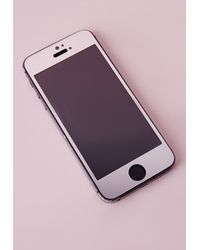 Missguided | Metallic Iphone 5 Screen Protector Silver | Lyst