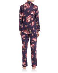 Lauren by Ralph Lauren   Multicolor Plus Classic Notched-collar Pajama Set   Lyst