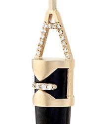 Monique Péan | White Diamond, Jade, Walrus Ivory & Gold Earrings | Lyst