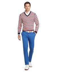 Brooks Brothers - Blue Milano Fit Plain-front Dress Chinos for Men - Lyst