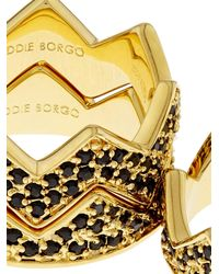 Eddie Borgo - Metallic Pavé Bear Trap Ring Set - Lyst