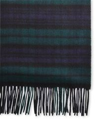 Johnstons | Blue 100% Cashmere Plaid Scarf for Men | Lyst