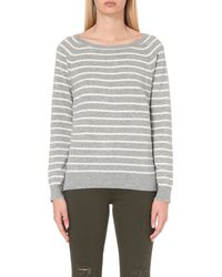 Closed | Gray Striped Cashmere Jumper | Lyst