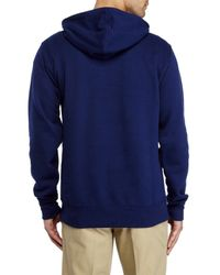 New Balance | Blue Graphic Logo Hoodie for Men | Lyst