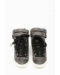Nasty Gal   Gray Schutz Acid Rock Sneakers   Lyst