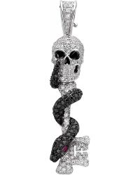 Theo Fennell - Metallic Skeleton Key 18ct White-gold - Lyst