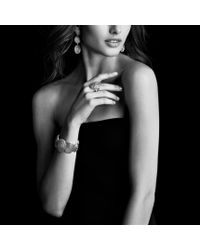 David Yurman - Metallic Cable Coil Ring with Diamonds - Lyst