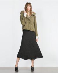 Zara | Green Cotton Parka | Lyst