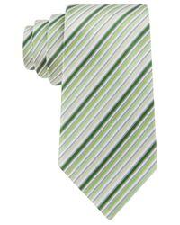 Geoffrey Beene - Green Stripe Done Right Tie for Men - Lyst