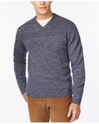 Weatherproof | Blue Vintage V-neck Wool Sweater for Men | Lyst