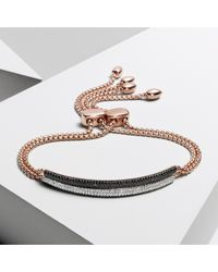 Monica Vinader | Pink Stellar Diamond Mini Bar Bracelet | Lyst