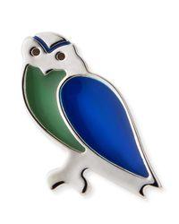 Ferragamo | Metallic Owl Lapel Pin | Lyst