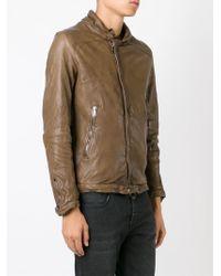 Giorgio Brato - Brown Distressed Leather Jacket for Men - Lyst