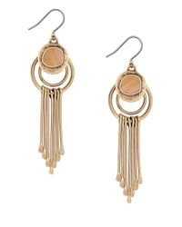 Lucky Brand | Metallic Goldtone Horn Paddle Drop Earrings | Lyst