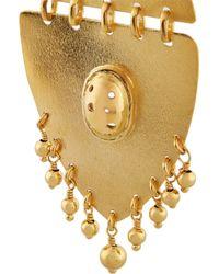 Paula Mendoza | Metallic Jarama Gold-Plated Earrings | Lyst