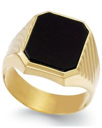 Macy's | Metallic Men's Onyx (3-3/4 Ct. T.w.) Ring In 14k Gold for Men | Lyst