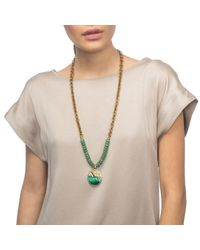 Lulu Frost - Green Pond Medallion Beaded Long Necklace - Lyst
