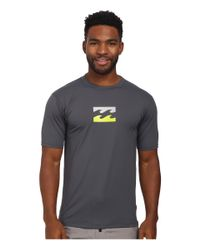 Billabong | Gray Chronicle Short Sleeve Rashguard for Men | Lyst