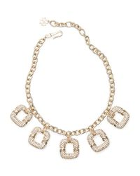 Ann Taylor | Metallic Pave Necklace | Lyst