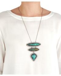 DANNIJO - Metallic Ivy Three Drop Necklace - Lyst