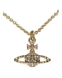 Vivienne Westwood   Metallic Mayfair Bas Relief Swarovski Crystal Orb Necklace   Lyst