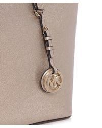 MICHAEL Michael Kors | Pink Jet Set Travel Metallic Tote Bag | Lyst
