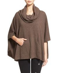 Joie - Brown 'concorde' Cowl Neck Wool & Cashmere Sweater - Lyst