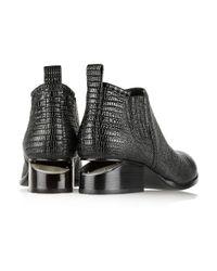 Alexander Wang | Black Kori Lizard-Effect Leather Ankle Boots | Lyst