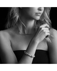David Yurman - Metallic Double X Bracelet With Gold - Lyst