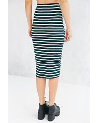 Glamorous - Green Fitted Midi Skirt - Lyst