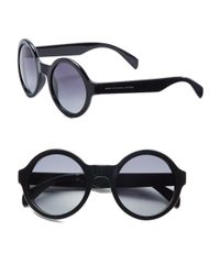 Marc By Marc Jacobs | Black 51mm Round Sunglasses | Lyst