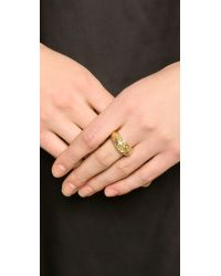 Aurelie Bidermann | Metallic Tribal Engraved Ring - Gold | Lyst
