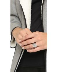 Vita Fede - Metallic Inverso Crystal Ring - Silver/clear - Lyst