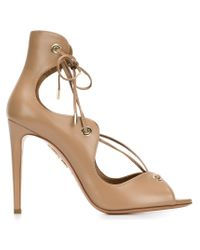 Aquazzura | Brown Tango Curvy Lace-up Sandal | Lyst