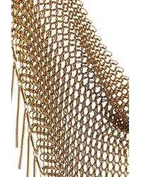 Isabel Marant - Metallic Gold-Tone Fringed Chainmail Necklace - Lyst