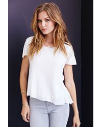 Truly Madly Deeply - White Destroyed Layered Tee - Lyst