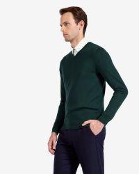 Ted Baker   Green Merino Wool Jumper for Men   Lyst