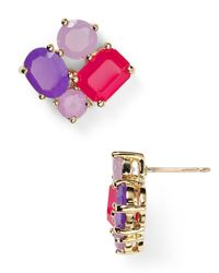 kate spade new york | Purple Cluster Stud Earrings | Lyst