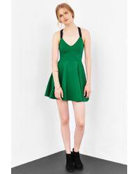 Silence + Noise | Green Emerald City Wide-strap Mini Dress | Lyst