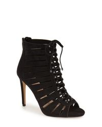 Vince Camuto | Black 'fionna' Lace-up Sandal | Lyst