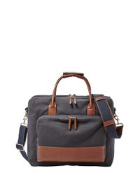 Fossil - Brown 'carson' Travel Briefcase - Lyst