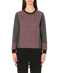 5cm | Purple Mesh-hem Jersey Sweatshirt | Lyst