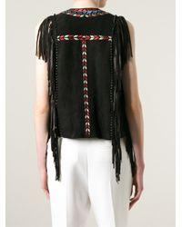 Isabel Marant - Black Ethnic Print Waistcoat - Lyst