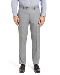 Ted Baker | Gray 'lubtro' Modern Slim Fit Textured Trousers for Men | Lyst