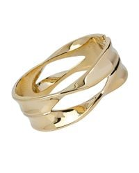 Robert Lee Morris - Metallic Spiral Jetty Geometric Cut-out Hinged Bangle Bracelet - Lyst