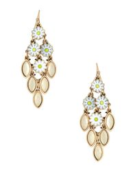 R.j. Graziano - Natural Daisy Drop Earrings - Lyst
