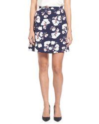 Bobeau | Blue Print A-line Skirt | Lyst