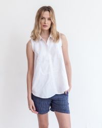 Marrakech | White Elizabeth Linen Top - Solid | Lyst