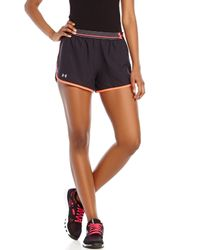 Under Armour | Black & Pink Perfect Pace Shorts for Men | Lyst