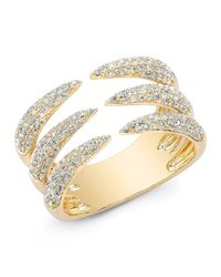 Anne Sisteron | Metallic 14kt Yellow Gold Diamond Triple Horn Ring | Lyst